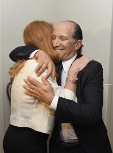 It's good to be the king.  HRH Duchess of York Sarah Ferguson embraces Howard Lutnick at BGC's Global Charity Day, September 11, 2014 in New York City.  (Photo by Dave Kotinsky/Getty Images)