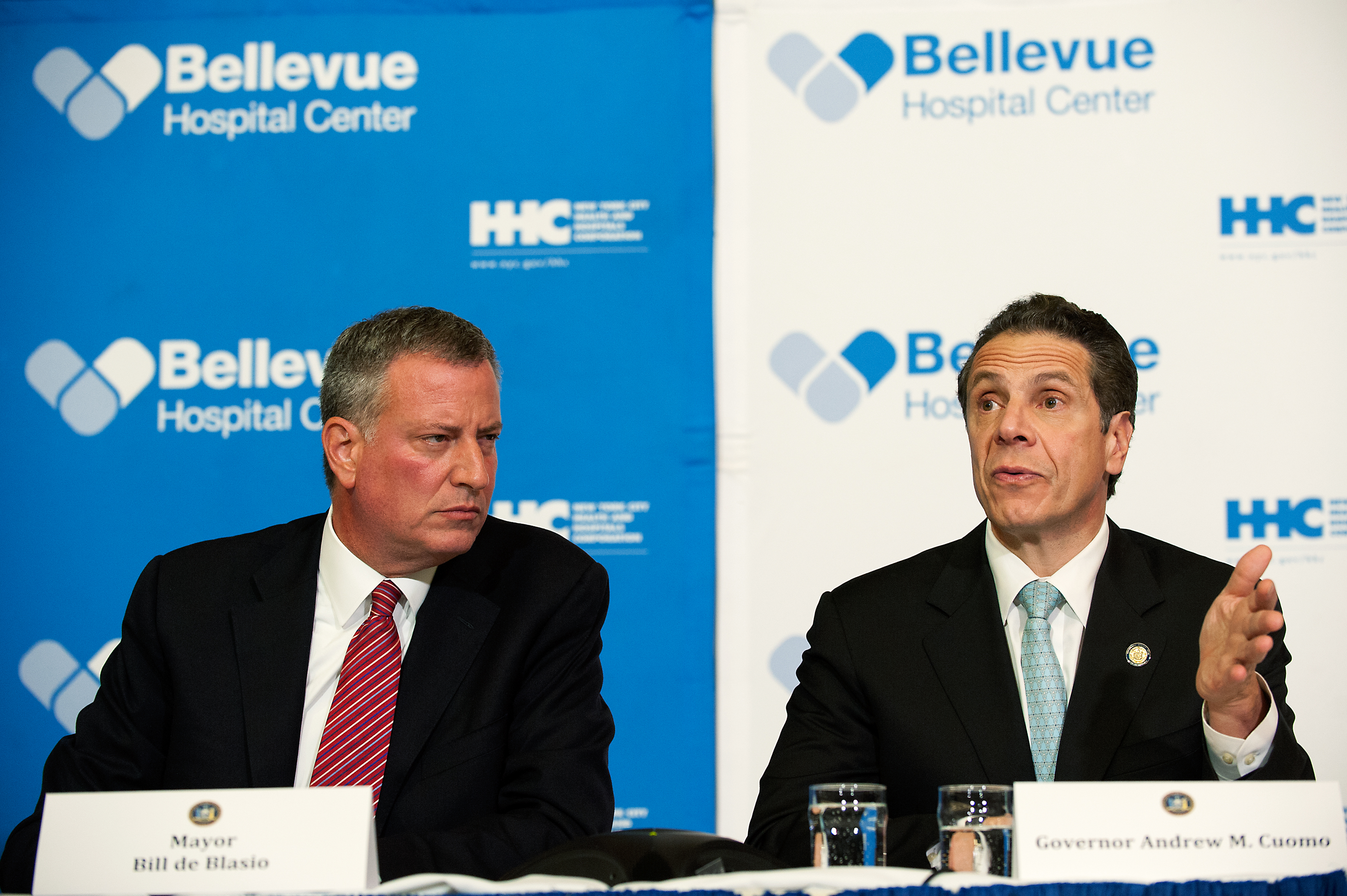 Mayor Bill de Blasio with Gov. Andrew Cuomo. (Photo: Bryan Thomas/Getty Images)
