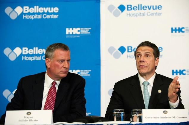 Mayor Bill de Blasio with Gov. Andrew Cuomo. (Photo: Bryan Thomas/Getty Images)