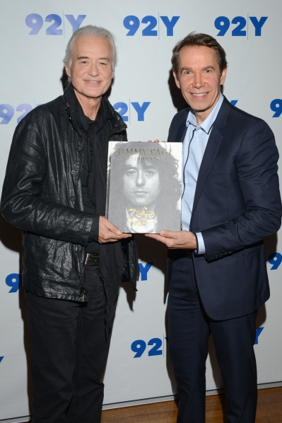 Jimmy Page and Jeff Koons. (Courtesy Getty Images)