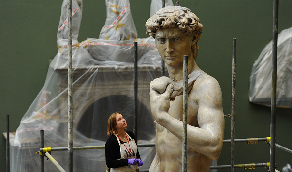 The Victoria and Albert Musuem's plaster cast of Michelangelo's David. (Photo by Stuart C. Wilson / Stringer)