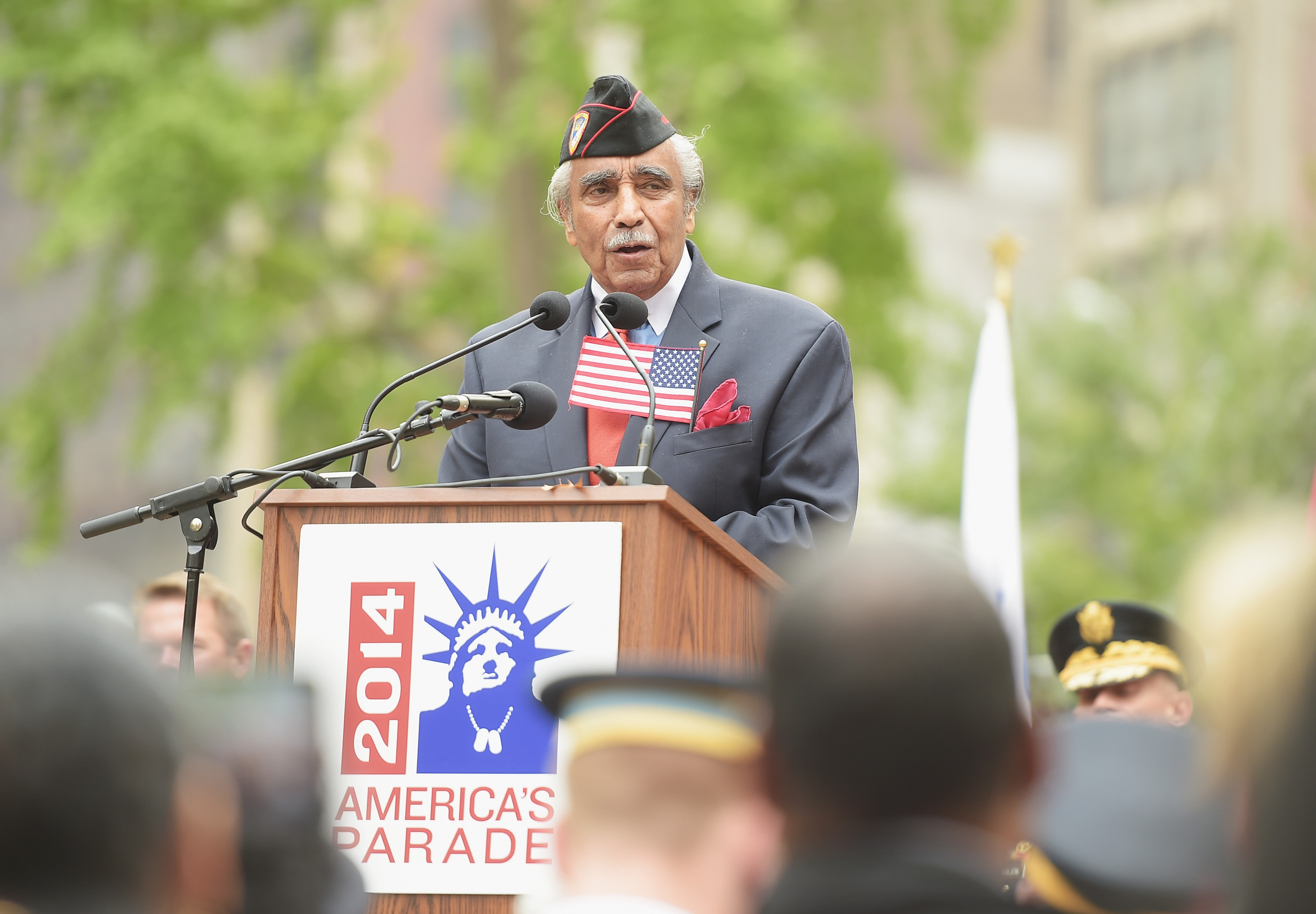 Congressman Charles Rangel at this year's Veterans Day Parade in Manhattan. (Photo: Michael Loccisano/Getty Images)