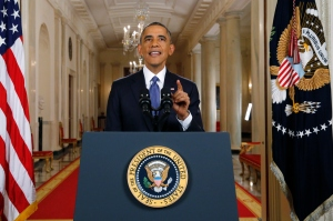 President Obama Delivers Remarks on Immigration Reform.  (Photo by Jim Bourg-Pool/Getty Images)