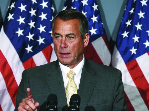 At this rate, John Boehner's gonna have to stay in the Speaker's chair forever. (Photo: Mark Wilson/Getty Images)