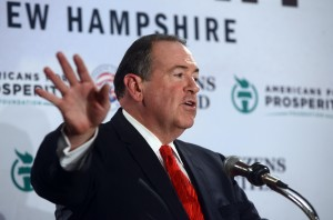 Former Arkansas Governor Mike Huckabee is part of an increasingly crowded field of Republican presidential contenders. (Photo by Darren McCollester/Getty Images)