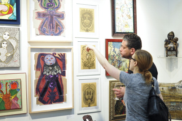 The 2014 edition of the Outsider Art Fair at Center 548 in New York. (Photo by Jenny Anderson, courtesy Getty Images)
