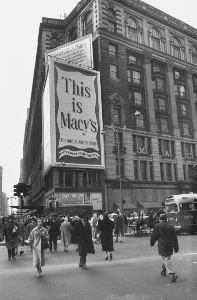 Macy's Department Store.  (Photo by James Burke/The LIFE Picture Collection/Getty Images)
