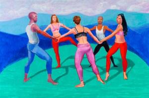 David Hockney, Dancers VIII, 2014 (Photo Credit: Richard Schmidt)
