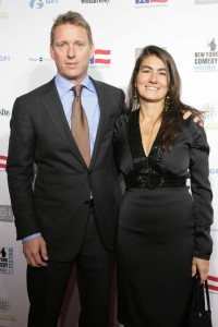 "GFI Group CEO Colin Heffron and his wife at ""Stand Up for Heroes"" event. Heffron has supported  CME's bid and opposed BGC's tender offer. (Richard Koek /PatrickMcMullan.com)"