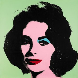 Liz #3 (Early Colored Liz), 1963, by Andy Warhol, at Sotheby's. (Courtesy Sotheby's, New York)