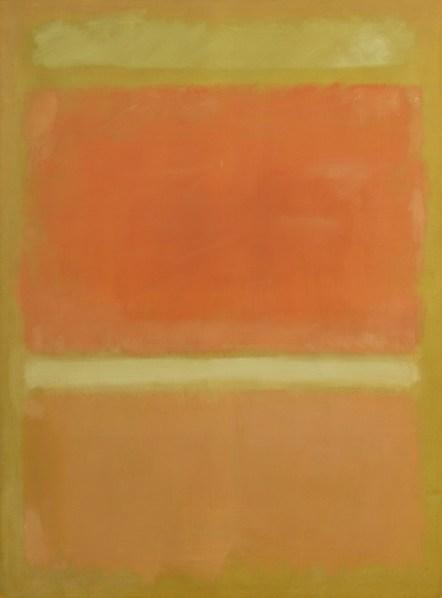 Untitled (Yellow, Orange, Yellow, Light Orange) (1955)  by Mark Rothko.