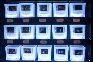 Actual Film Votive makes candleholders using 35 mm slides. (Photo credit: Julius Motal/NY Observer)