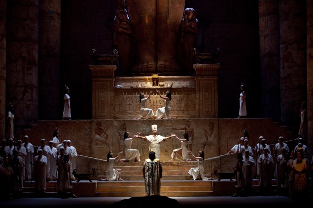 Entombed at  the Met's Aida. (Photo by Marty Sohl/Metropolitan Opera)