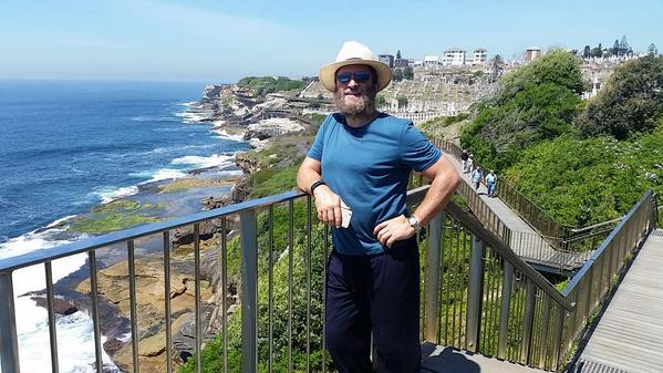 The author, Rabbi Shmuley, in Australia