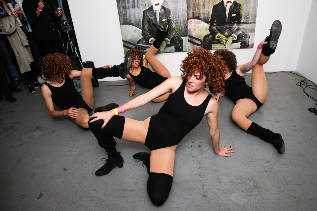 """Dancers at """"NOT FOR PROFIT,"""" a fundraiser for Bruce High Quality Foundation University. (Photo courtesy BFANYC.com)"""