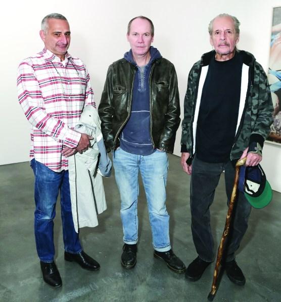 Larry Clark, Richard Prince, Christopher Wool (Photo courtesy Billy Farrell)