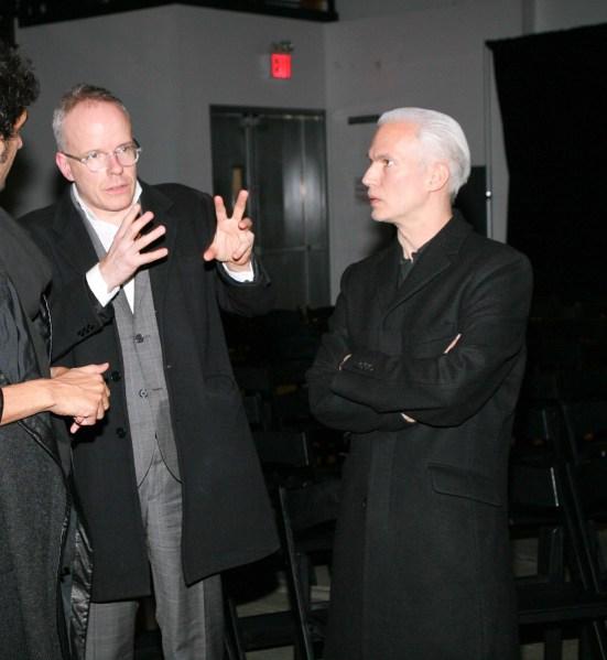 Hans Ulrich Obrist, Klaus Biesenbach. (Courtesy Billy Farrell)