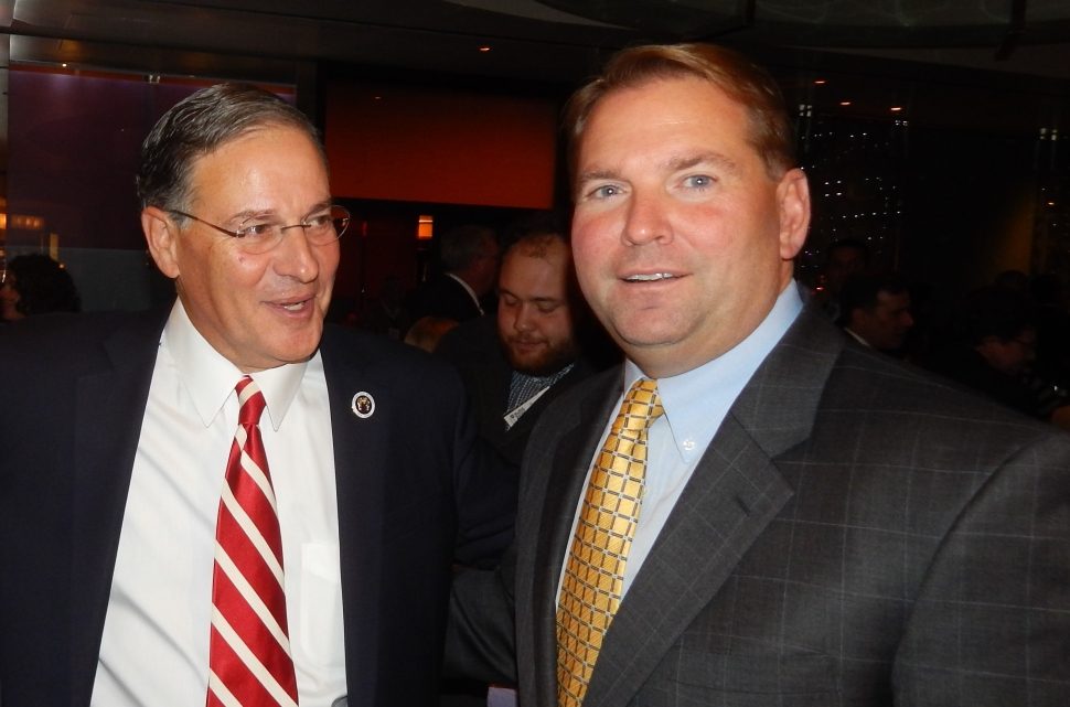 Bramnick with Monmouth County GOP Chairman Shaun Golden.