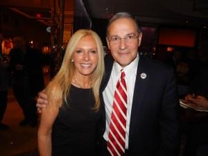 Monmouth County GOP leader Christine Hanlon with Bramnick.