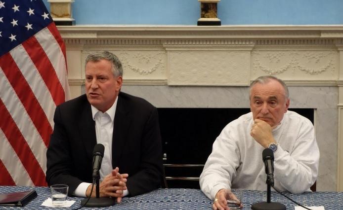Mayor Bill de Blasio and Police Comissioner Bill Bratton. (Photo: John Kenny/NYTrue.com)