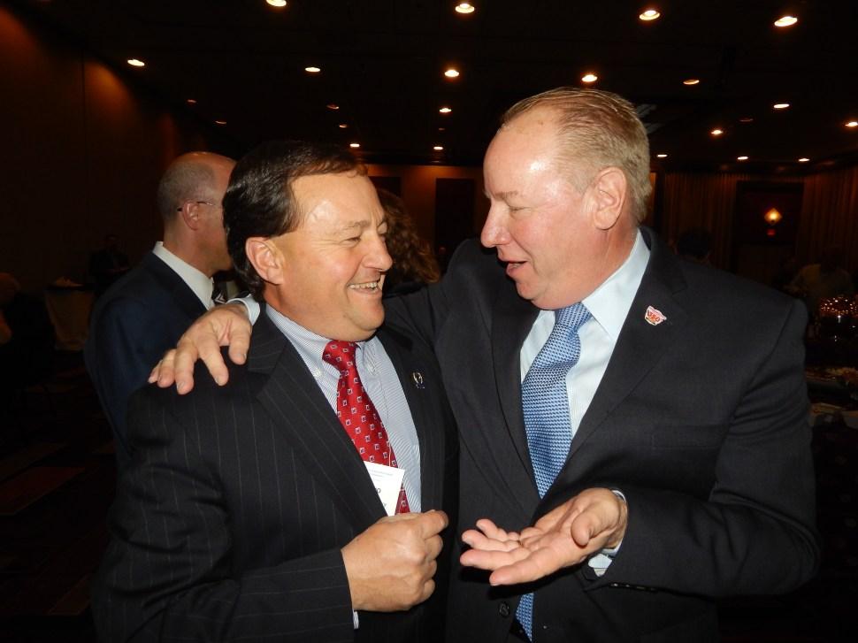 Elizabeth Mayor Chris Bollwage, right, and Assemblyman John DiMaio (R-23).