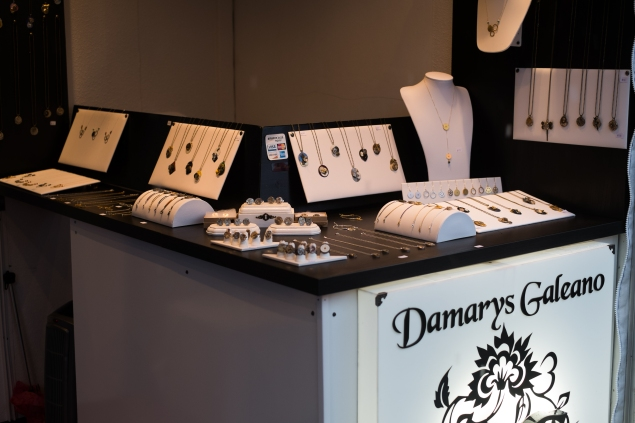 Damarys Galeano's jewelry is inspired by vintage watches. (Photo credit: Julius Motal/NY Observer)