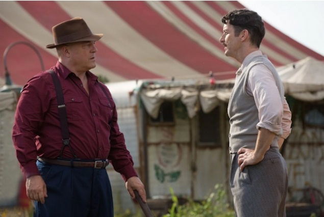 Dell and Stanley on American Horror Story: Freak Show. (FX)