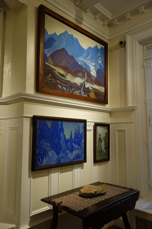 Paintings by the artist on view at the Nicholas Roerich Museum.
