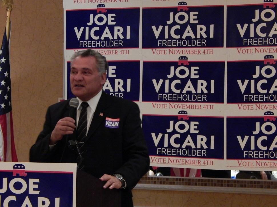 Republican Freeholder Joe Vicari.