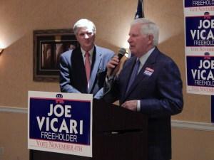Ocean County Republican Committee Chairman George Gilmore and Chairman Emeritus Joe Buckelew.