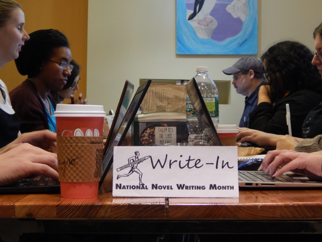 New York participants in National Novel Writing Month turn the solitary activity of writing into a group activity (Nicole Puglise/New York Observer)