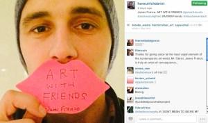 James Franco on Hans Ulrich Obrist's Instagram. (Courtesy Hans Ulrich Obrist's Instagram)