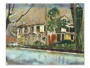 Peter Doig's Pinehouse set a record for the artist at $18 million.