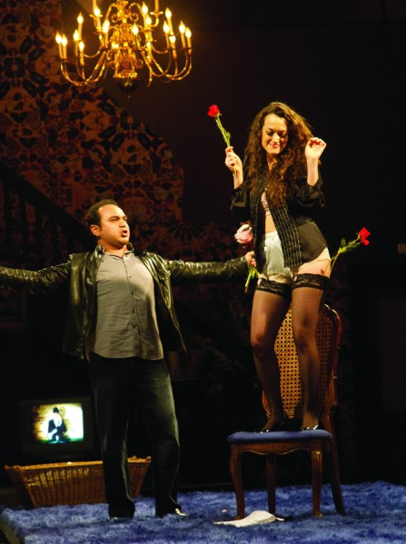 Audience members must duck beer cans in the Brooklyn LoftOpera's winsome Figaro.