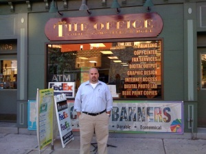 Sept 1, 2009: my first day as owner of The Office on Washington Street in Hoboken (Photo: John Packel)