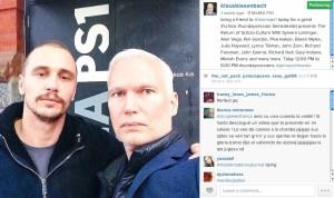 James Franco on Klaus Biesenbach's Instagram (Courtesy Klaus Biesenbach's Instagram)