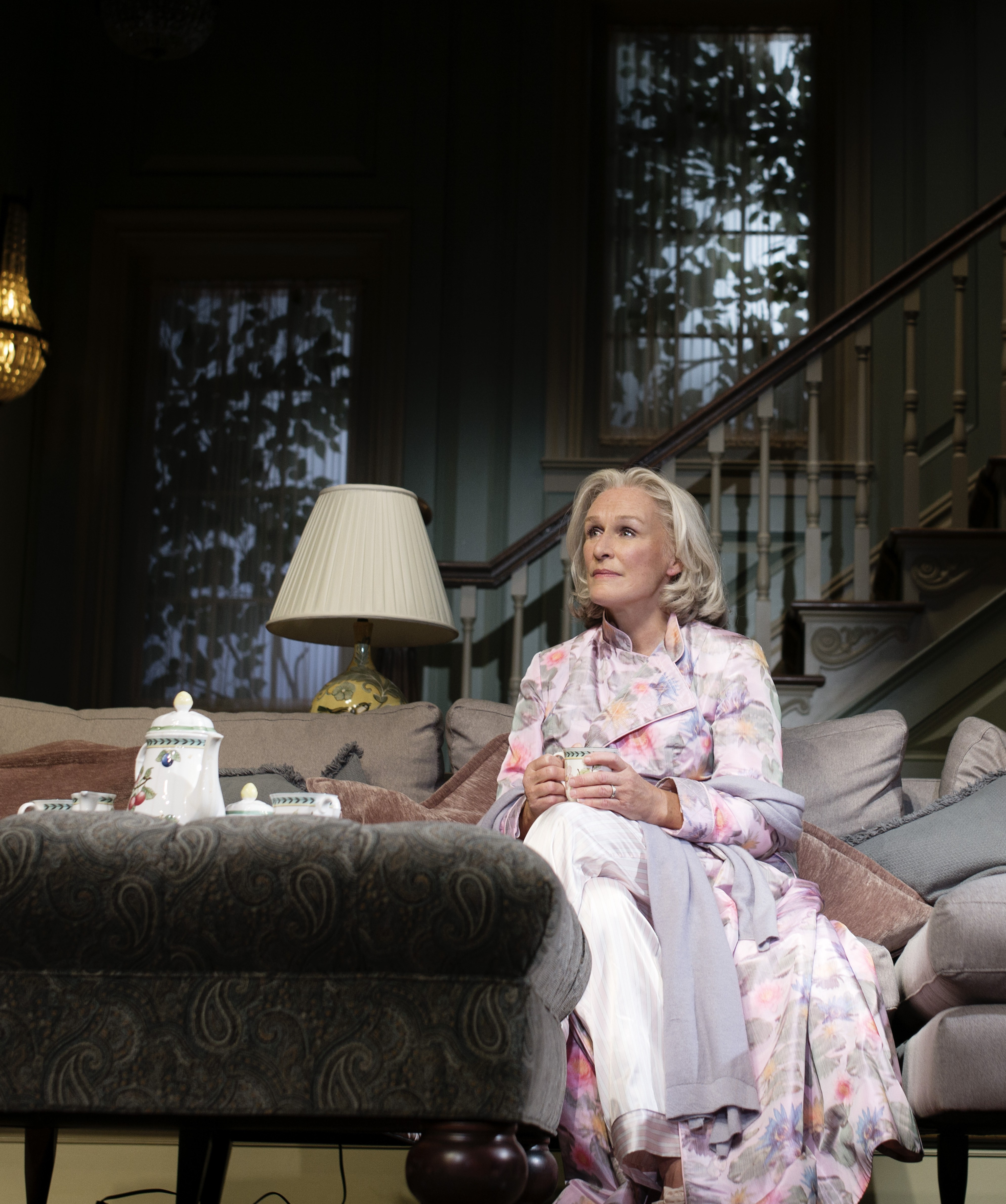 Glenn Close as an embattled Connecticut matriarch in Edward Albee's  A Delicate Balance. (Photo by Brigitte Lacombe)