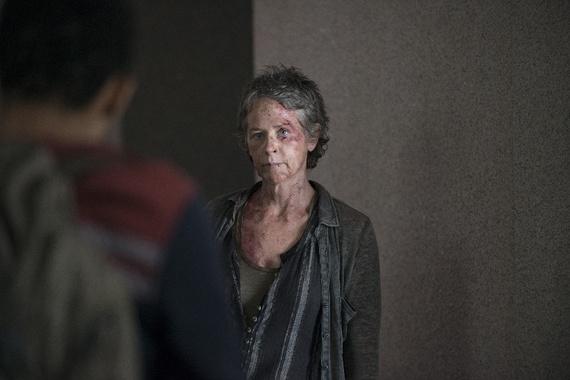 Carol on The Walking Dead.