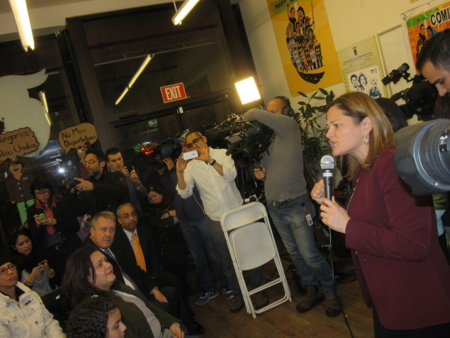 Council Speaker Melissa Mark-Viverito speaks (Photo: Will Bredderman/New York Observer).