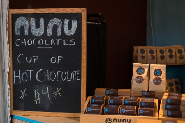 Nunu Chocolates has been a participant in Union Holiday Market for seven years. (Photo credit: Julius Motal/NY Observer)