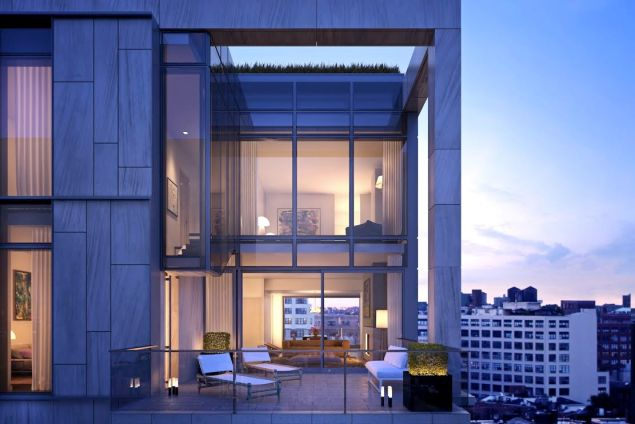 Oh, does your penthouse just have a one-level terrace?