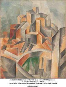 Pablo Picasso, Le réservoir (Horta de Ebro), summer 1909 (Courtesy Gagosian Gallery.)
