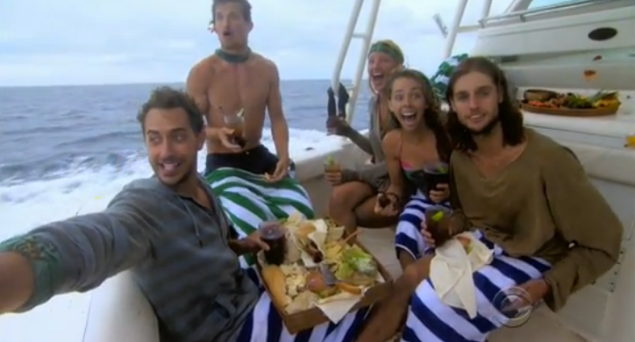 The Reward Challenge winners spotting a dolphin is my favorite screenshot of all time.