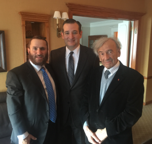 Rabbi Shmuley, Senator Ted Cruz, Elie Wiesel, November 24, 2014