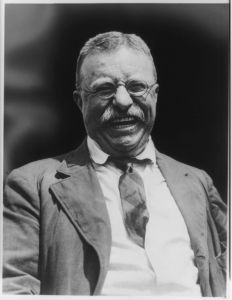 This picture of a smiling Teddy Roosevelt, taken by Brown Brothers photographer Charles Duprez. (Photo: www.theodore-roosevelt.com)