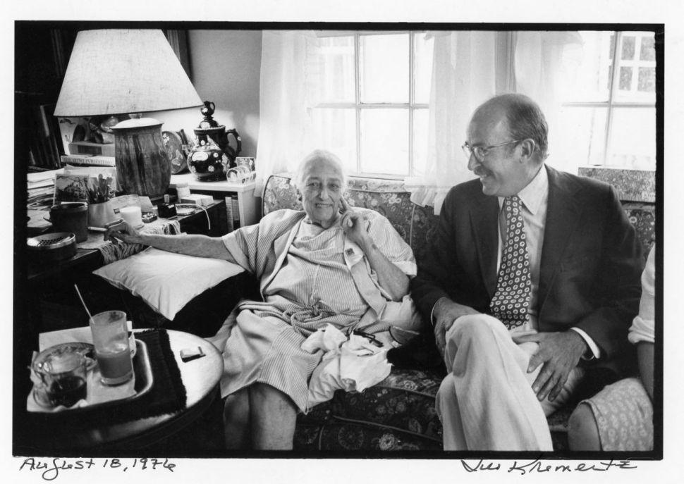 Katharine White and her son, Roger Angell (Jill Krementz)