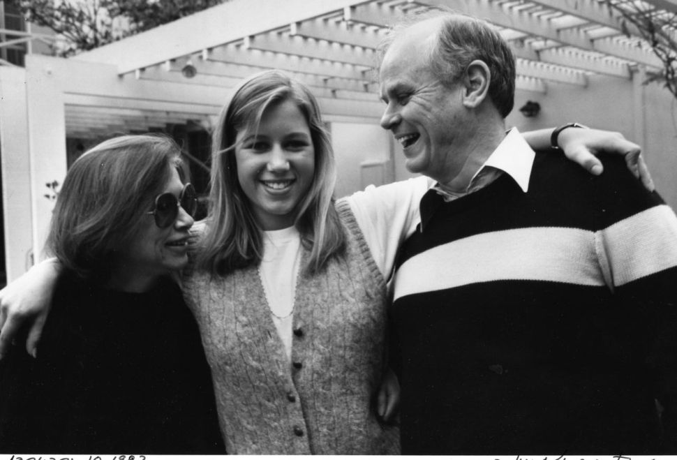 Joan Didion, Quintana Roo Dunne, John Gregory Dunne, March 31, 1972 (Jill Krementz)