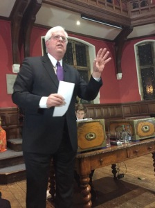 Radio host Dennis Prager defends Israel at the Oxford Union.