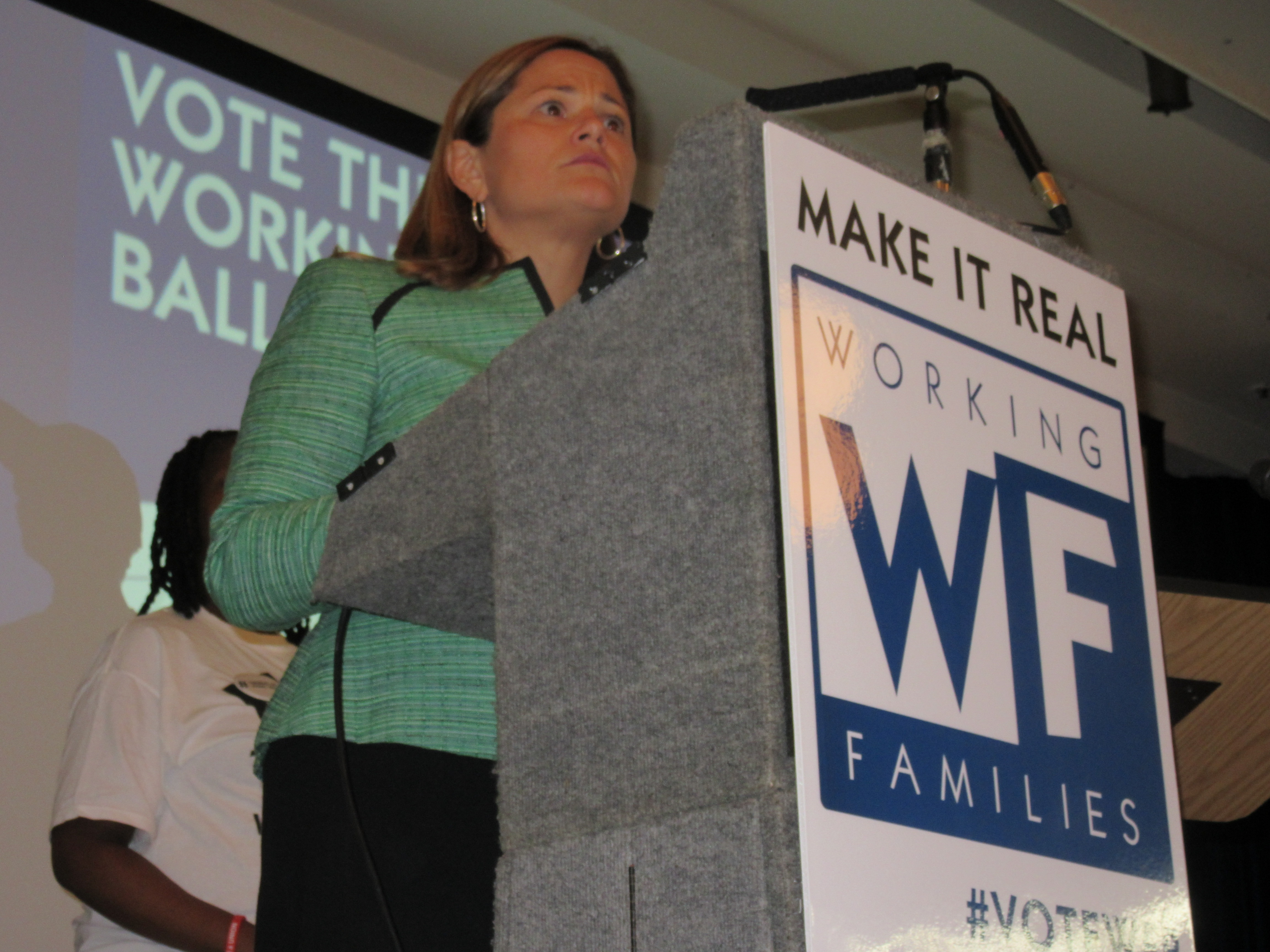 Council Speaker Melissa Mark-Viverito at a Working Families Party rally last month (Photo: Will Bredderman).
