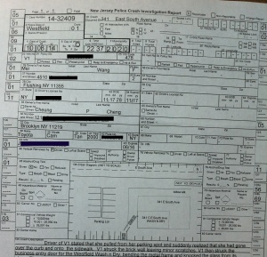 The driver was cited by the Westfield Police for reckless driving. Big props to WPD for the clarity of its diagram.